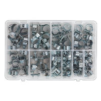 O-Clip Single Ear Assortment 160pc Stainless Steel. AB043SE